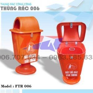 Thùng rác 55 l chân nhựa