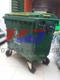 Thùng rác 660l 1 nắp 1 ngăn