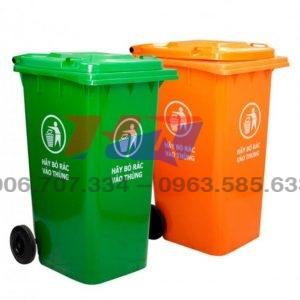 Thùng rác nắp kín 120 l