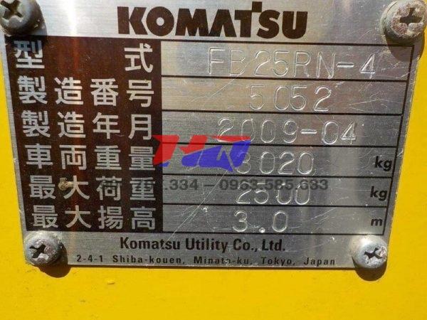 Xe nâng điện đứng lái KOMATSU 2T5