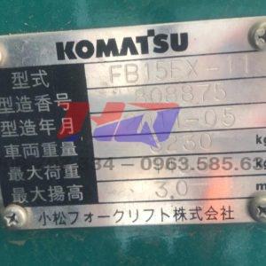 Xe nâng điện ngồi lái Komatsu 1T5
